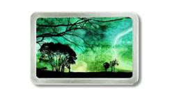 Gürtelschnalle mit Bäumenund abstraktem Unwetter