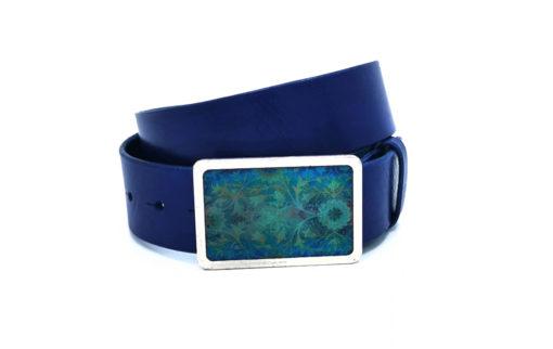 Ledergürtel blau