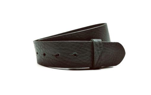 4 cm Wechselgürtel, Leder schwarz