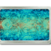 Gürtelschnalle mit Damask Muster in blau