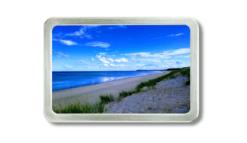 Wechselschnalle mit Aufnahme von einem Strand an der Ostsee