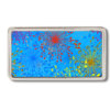 Guertelschnalle 2.5 cm mit stilisiertem Feuerwerk auf blauem Hintergrund