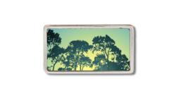 schmale Gürtelschnalle mit Bäumen