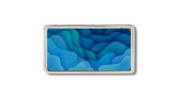 Motivschnalle 2.5 cm mit blauen Wellen