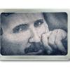 Gürtelschnalle mit Portrait von Nikola Tesla