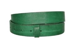 3 cm breiter Ledergürtel in grün