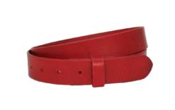 3 cm breiter Ledrgürtel in rot