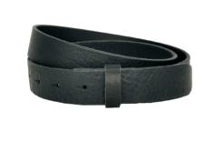 3 cm breiter Ledergürtel in schwarz