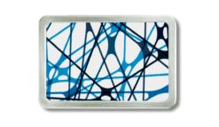 Gürtelschnalle Straps mit abstraktem Motiv